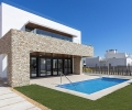 ESPMI/AF/002/34/10D30/00000, Majorca, Es Trenc, equipped new built pool villa with garden and garage for sale